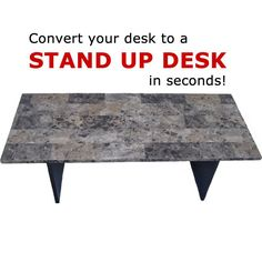 Here's a $75 solution for folks with regular desks to make it into a stand up desk when you want to.