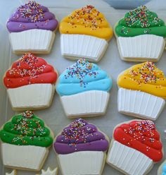 Cupcake Cookie Decorating Inspiration