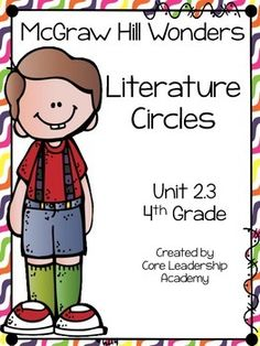 Thinkmark Literature Circle graphic organizer ~ Unit 2.3~There are 4 different levels approaching, on, ell, and advance!  Great for literacy centers! Enjoy!