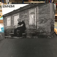 Eminem float mounted poster made at iposters today. #eminem #poster #iposters