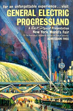 1964 New York World's Fair  GE poster