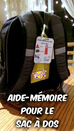 Aide-mémoire pour le sac à dos Backpacks, Education, Primary Education, Teaching Tools, Bag, Storytelling, Organisation, Children, Women's Backpack