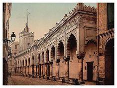 L'histoire de l'Algérie la grand mosquée dans les rues d'Algérie, dans les années 1900