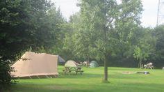 Natuurkampeerterrein de Haverkamp in Voorst met houtkacheltjes