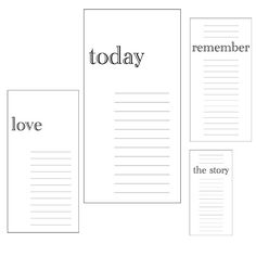 Digital Downloads - Rectangle Journaling Spots
