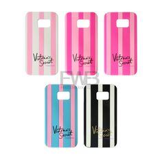 Newest Victoria/'s Secret PINK Luxe Soft Silicone Stripe Case For Samsung Galaxy Edge Protective Phone Covers Love And Lust, New Gadgets, Phone Covers, Samsung Galaxy S6, Galaxies, Smartphone, Stripes, Victoria, Cases