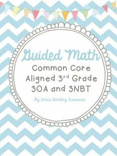 "Totally wanting to focus on ""Guided Math"" or ""Small Group Math"" this year? Check out this product and blog for tips and downloads!  Free and priced products!  $"