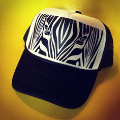 Team Zebra Roller Derby Trucker Hat by Representartco on Etsy, $20.00