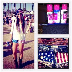 American Flag Daisy Dukes!  #stagecoach #americana