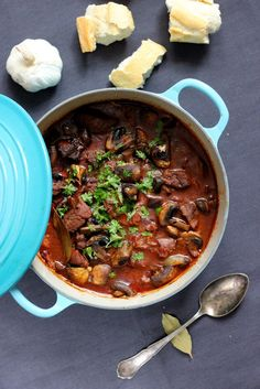 Love Food, Chili, Food And Drink, Healthy Recipes, Healthy Food, Soup, Beef, Dinner, Le Creuset