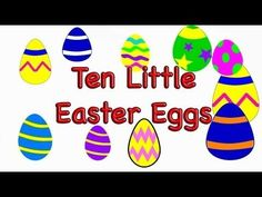 Easter Preschool Song -Ten Little Easter Eggs - LittleStoryBug #easteractivities #easterpreschool