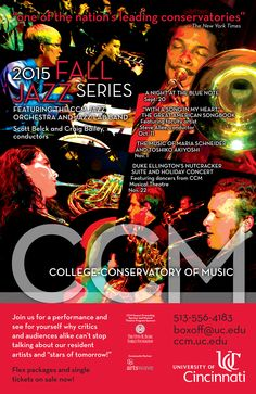 Learn more about the Fall 2015 Jazz Series at the nationally ranked and internationally renowned UC College-Conservatory of Music by visiting http://ccm.uc.edu/boxoffice/concerts/jazz.html.