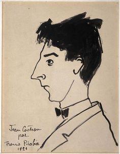 Picabia sketches Cocteau 1921