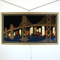60s Golden Gate Bridge Metal Sculpture Mid Century
