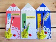 Упаковка День учителя Начало учебного года Аппликация Шоколадницы Карандашики  Бумага фото 1