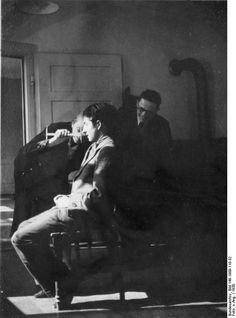 Kriminalpolizei (Kripo) researchers measure a Sinti boy's head in anthropological studies of criminals, Stuttgart in 1938