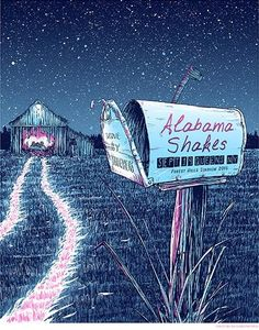 Alabama Shakes gig poster by  Barry Blankenship