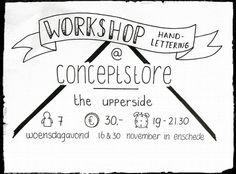 #Conceptstoretheupperside  #WORKSHOP Handlettering!  Yes! Op woensdagavond 16 & 30 november kun je bij ons een handlettering workshop volgen van 19 tot 21.30. Per workshop is er plek voor 7 personen. Aanmelden kan door een mail te sturen naar info@conceptstoretheupperside.nl de kosten zijn € 30. Vol = vol! #handlettering  #Haverstraatpassage #Enschede