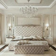 Luxury Bedroom Design Ideas That You Definitely Want For Your Dream Home 35 master bedroom design glamour 50 Luxury Bedroom Design Ideas that you Definitely want for your Dream Home - Home-dsgn Glam Bedroom, Home Decor Bedroom, Modern Bedroom, Bedroom Furniture, Bedroom Classic, Fancy Bedroom, Trendy Bedroom, Luxury Furniture, Queen Bedroom