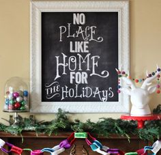 There's no place like home for the holidays! #holidays #christmas #decor