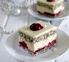 "Zákusok ,, cherry lady"" | Božské recepty Polish Desserts, Fancy Desserts, Polish Recipes, Sweet Desserts, Just Desserts, Sweet Recipes, Delicious Desserts, Cake Recipes, Dessert Recipes"
