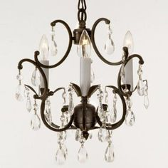 Wrought Iron Crystal Chandelier Lighting Country French , 3 Lights , Free Shipping , Ceiling Fixture:Amazon:Home Improvement
