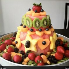 I had so much Fun making this Watermelon Cake! To make it I first sliced off the top and bottom ends of the Watermelon Then. Healthy Birthday Cakes, Vegan Birthday Cake, Fat Free Vegan, New Cake, Sugar Free Desserts, Vegan Cake, Fruit And Veg, Raw Food Recipes, Party Recipes