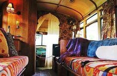 ☮ American Hippie Bohéme Boho Lifestyle ☮ School Bus conversion