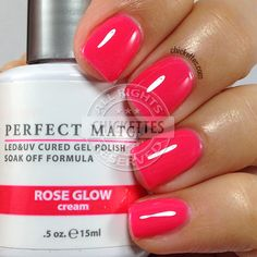Perfect Match Rose Glow - Spring 2015 - swatch by Nails Gelish, Glow Nails, Fancy Nails, Trendy Nails, Cute Nails, Garra, Perfect Match Gel Polish, Gel Nail Polish Colors, Manicure Y Pedicure