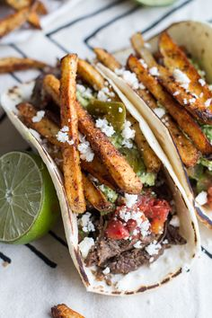Loaded Crockpot Carne Asada Tacos