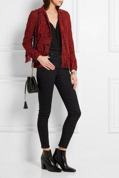 Saint Laurent | Fringed leopard-print suede jacket | NET-A-PORTER.COM