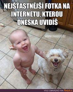Nejšťastnější fotka na internetu, kterou Lifelong Friends, Happy Photos, Good Morning Photos, Always Smile, Wholesome Memes, Baby Dogs, Animal Memes, Cat Memes, Make You Smile