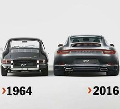 The Porsche 911 is a truly a race car you can drive on the street. It's distinctive Porsche styling is backed up by incredible race car performance. Porsche Classic, Bmw Classic Cars, Porsche 2017, Porsche Cars, Porsche 356, Audi, Porsche Carrera, 1964 Porsche, Singer Porsche