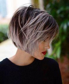 30 Cute Short Bob Hairstyle With Bangs Ideas 21