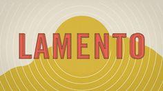 Music : John Talabot - Lamento  Un lamento est un morceau de musique à caractère plaintif. De même, on parle de lamento tragique pour un texte littéraire mêlant les registres tragique et pathétique.