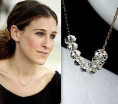 Carrie Bradshaw  Sex and the City Necklace  14K by bijouxbydesif, $29.00