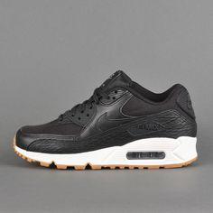 Nike Air Max 90 Premium Leather WMNS, black / dark grey / ivory