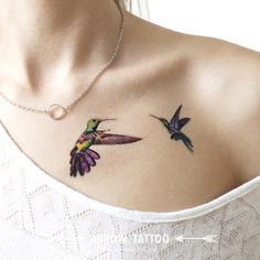 Two Hummingbirds tattoo Pattern Tattoo Temporary Tattoo wrist ankle body sticker fake tattoo by ArrowTattoo on Etsy https://www.etsy.com/listing/244549169/two-hummingbirds-tattoo-pattern-tattoo