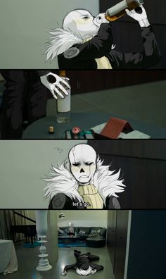 It's a freaking same... Because this is exactly how I see Sans, regardless of what, drunk.