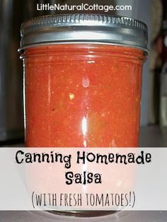 Canning Homemade Salsa (with fresh tomatoes!)