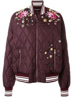 куртка-бомбер с вышивкой