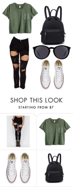 """Untitled #217"" by karenrodriguez-iv on Polyvore featuring Converse and Yves Saint Laurent"