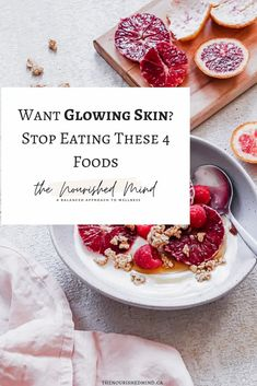 4 Foods That Are Keeping You From Glowing Skin | The Nourished Mind High Glycemic Foods, Food For Glowing Skin, Bad Acne, Western Diet, Foods To Avoid, Some Recipe, Stop Eating, Healthy Alternatives, Cooking