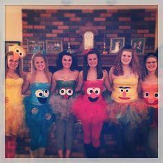 Bff Halloween Costumes, Theme Halloween, Carnival Costumes, Adult Halloween, Cute Halloween, Holidays Halloween, Cool Costumes, Adult Costumes, Sesame Street Costumes