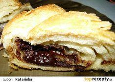 Čokoládová náplň do buchet Desert Recipes, Croissants, Nutella, Hamburger, Pancakes, Sandwiches, Pie, Breakfast, Ethnic Recipes