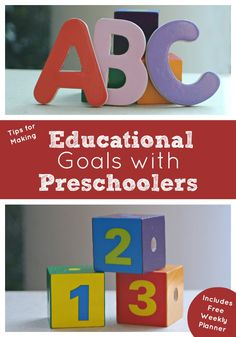 Tips for Parents for Setting Educational Goals at home with Preschoolers includes free printable planner and links for top resources for guidelines for milestones for children. #SmartMarch Repinned by SOS Inc. Resources pinterest.com/sostherapy/.