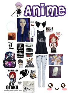 """""""#AnimeFreak"""" by meowerz1157 ❤ liked on Polyvore"""
