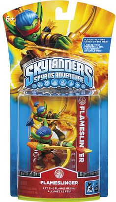 #ToysRus                  #Toys #Action Figures     #flameslinger #weapons #powers #generations #magical #frozen #skylanders #alive #character #adventure #spy #world #pack           Skylanders Spyro's Adventure Character Pack - Flameslinger                    Bring your Skylanders to life! Frozen in our world. Alive in Theirs.                                                                                                                 For Generations, the Skylanders have used their magical…