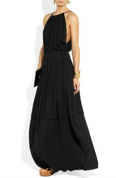 Chloe Silk Georgette Maxi Dress