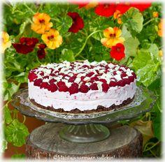 Maistuis varmaan sullekin!: Vadelma-valkosuklaakakku Cheesecakes, Yummy Cakes, Food And Drink, Baking, Party, Desserts, Recipes, Birthday, Dog
